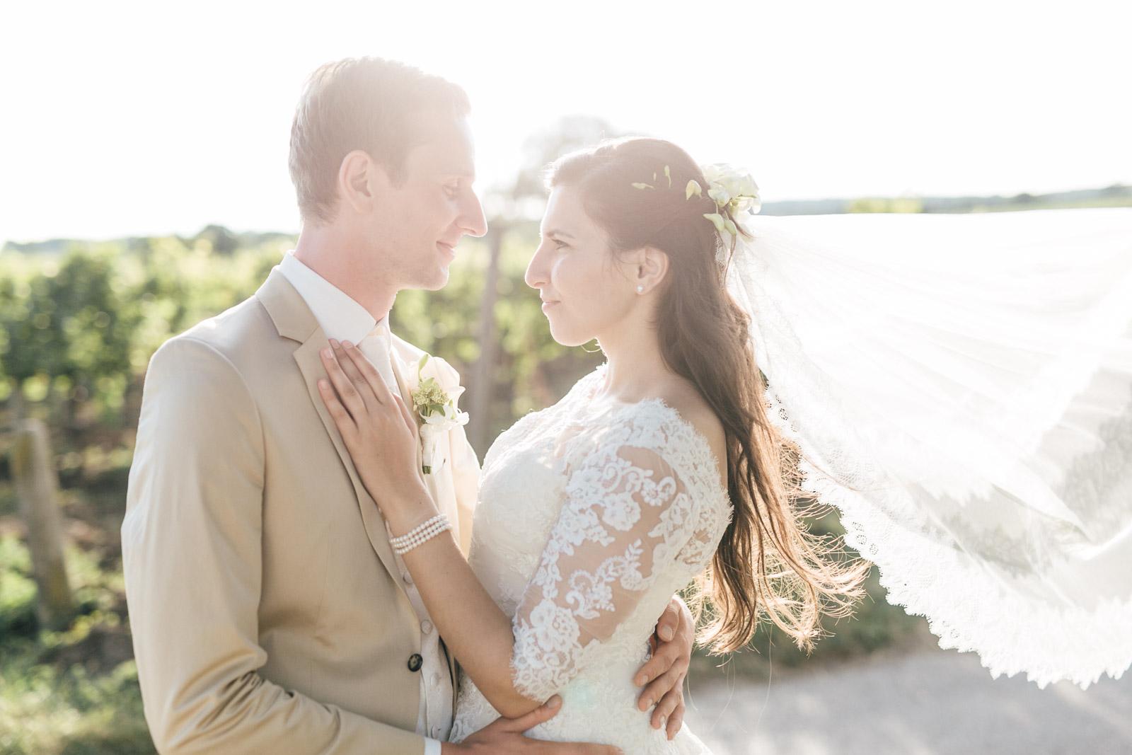 Brautpaarfotos am Hochzeitstag in Weiden am See Burgenland