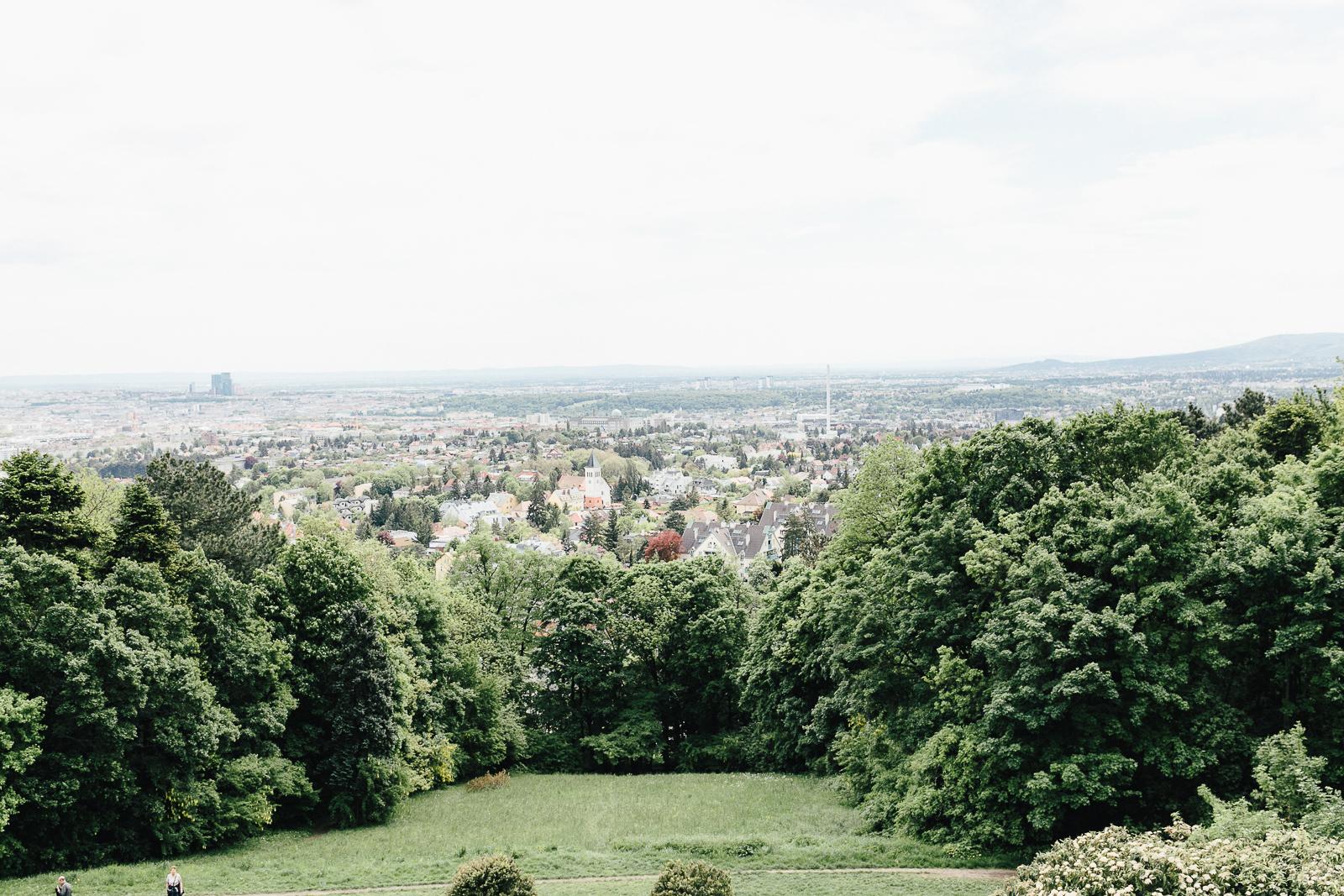 Aussicht auf die Stadt Wien vom Wilhelminenberg