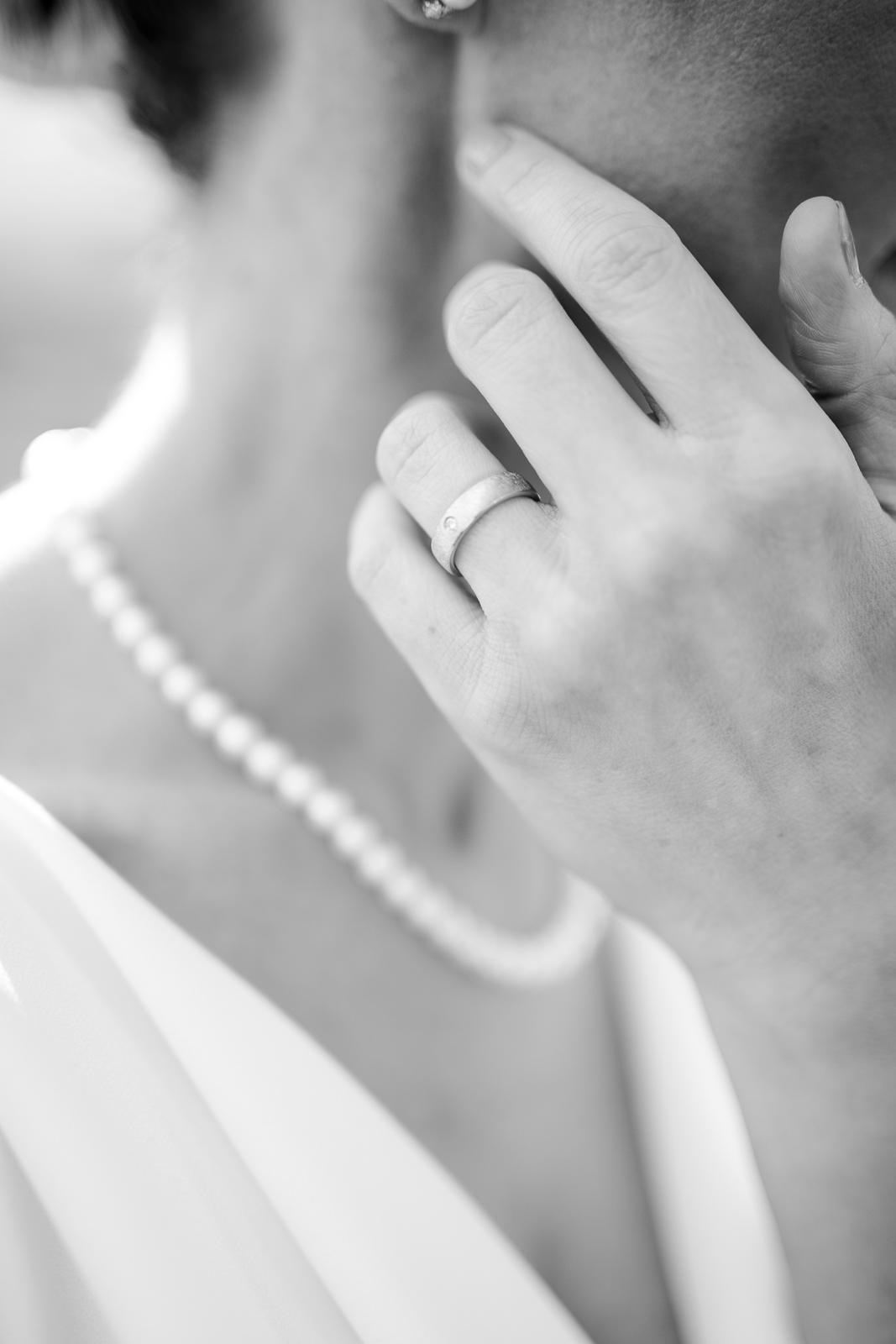 Detailfoto einer Braut