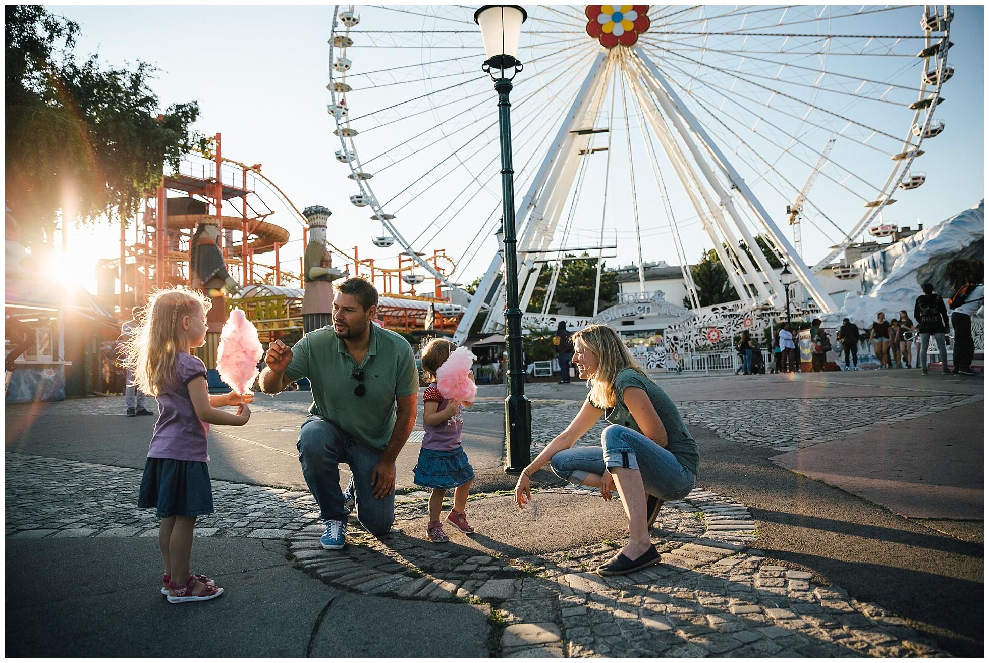 Wiener Prater Familienbilder Eltern Kinder